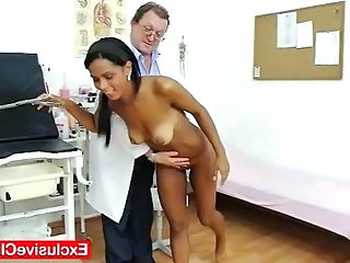 Interracial Latina Old and Young Doctor Teen Gyno Latina Pussy
