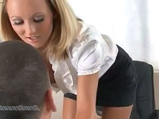 Secretary Skirt Office Boss Cute Blonde Office Babe