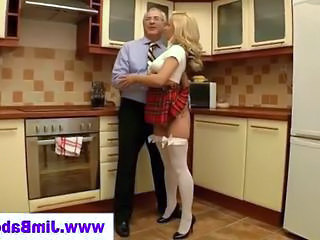 Blonde Kitchen Babe Kitchen Sex Old And Young Stockings