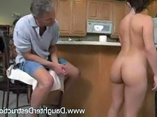 Teen Old And Young Kitchen Dad Teen Daddy Daughter