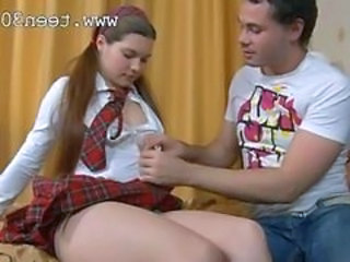 Chubby Uniform Babysitter Long Hair Chubby Anal