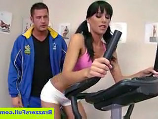 Gia dimarco seduces her trainer