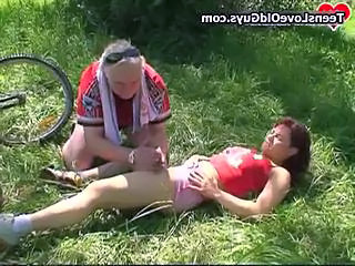 Old And Young Outdoor Redhead Old And Young Outdoor Outdoor Teen