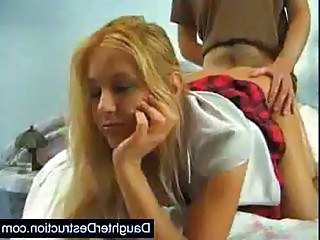 Daughter Clothed Doggystyle Blonde Teen Clothed Fuck Daughter