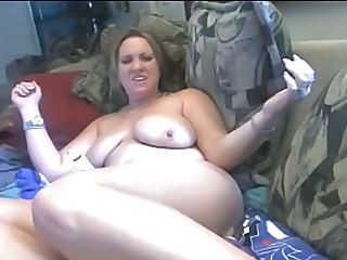 Blond MILF squirts on cam