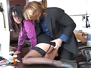 Secretary Amazing Brunette Milf Office Milf Stockings Office Milf