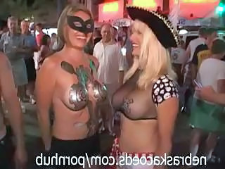 Hot Compilation Shots Of Sexy Young Babes Exposing Their Tits At Mardi Gras