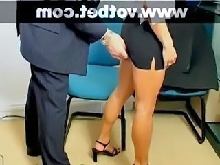 Skirt Secretary Legs Office Office Babe