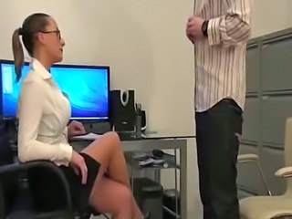 Femdom Glasses Office Interview Milf Ass Milf Office