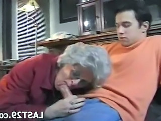 Granny getting a hard cock