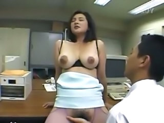 Office Hairy Pantyhose Anal Japanese Asian Anal Asian Babe