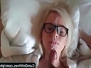Glasses Wife Facial Amateur Cumshot Cumshot Ass Wife Ass