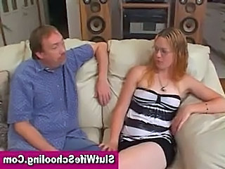 Blonde girl next door learning how to deepthroat  free