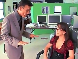 Pornstar Secretary Glasses Ass Big Tits Old And Young Tits Office