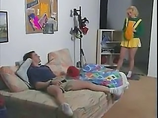 Cheerleader Teen Uniform Vintage Cheerleader Clothed Fuck