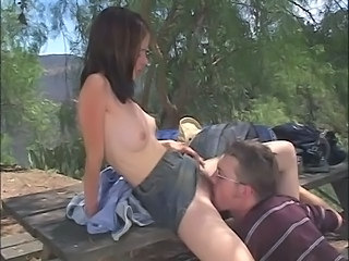 Licking Outdoor Skinny Hairy Teen Outdoor Outdoor Teen