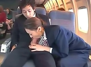 handjob in public bus(plane) full of girls PART 2