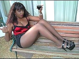 Ebony Legs in Pantyhose Part3