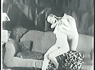 Nice hard fuck in the tight pussy of this cute young vintage porn s...