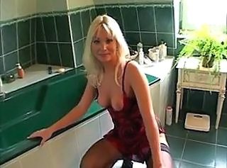 Bathroom MILF Blonde Milf Anal
