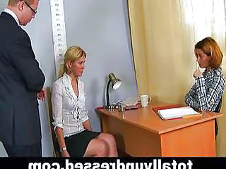 Embarassing Nude Job Interview For Blond Girl