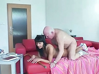 Old and Young Brunette Homemade Grandpa Homemade Teen Old And Young