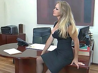 Blonde  Office Milf Office Milf Stockings Office Milf