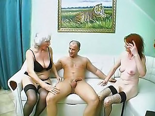 Busty Granny Threesome Fuck Is Awesome