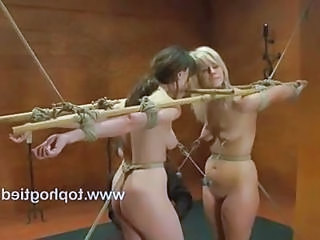Dana And Tara Are Connected In Bondage