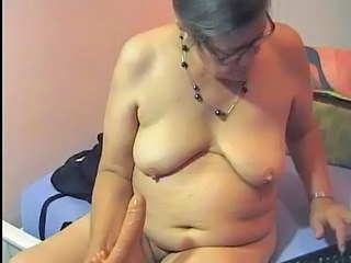 Granny at the webcam