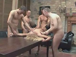 Video from: xhamster | GANGBANG CELEBRATION FOR A FINE...