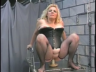 A buxom old blonde milf slut get worked over good