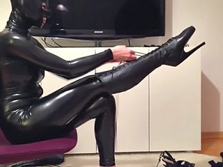 Latex Cute Legs Mask