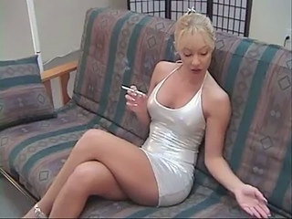 Smoking Blonde Legs