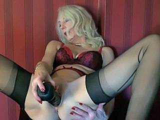 stretching and masturbation the hot milf cunt-part two