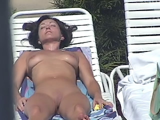 Nudist Brunette MILF