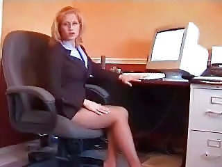Blonde Glasses Legs Blonde Teen Glasses Teen Office Teen
