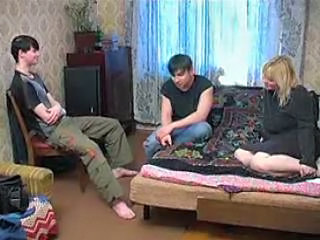 Russian Mom With Two Teen Boys