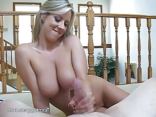 Carolyn Jerking A Stiff Dick