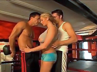 Blonde Sport Threesome Double Anal Boobs Blonde Anal