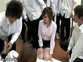 Horny Japanese teacher gets...