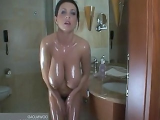 Oiled Bathroom Amazing Bathroom Tits Big Tits Amazing Big Tits Cute