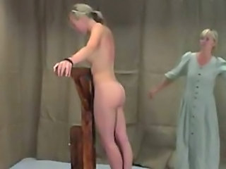 Spanking Whip Caught Mom