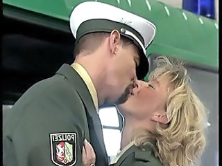 Uniform Kissing Blonde Police
