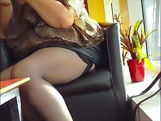 Black stockings and a leather...