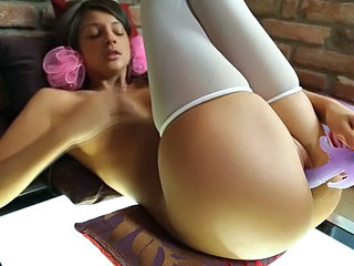 Stockings Masturbating Solo Dildo Teen Masturbating Teen Masturbating Toy