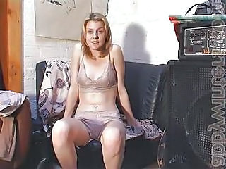 Blonde Using Dildo And Rub Hairy Pussy