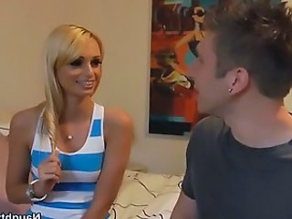 Sexy Skinny Blonde Teen Meets Her Friends Brother and...