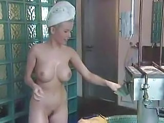 Busty German Gina Wild Bathroom Sex