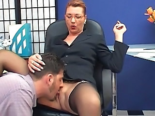 Secretary Mature Office Ass Licking Clothed Fuck Glasses Mature